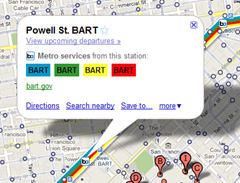 google maps bart